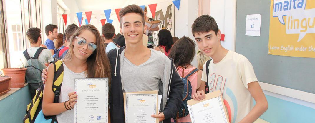 Certificats des cours pour jeunes