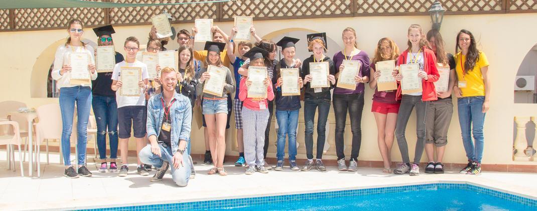 Photo de la graduation des cours