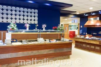 Buffet de la salle à manger de la résidence pour jeunes