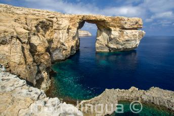 Vue de l'Azure Window à Gozo