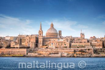 Vue de Valletta depuis le ferry de Sliema