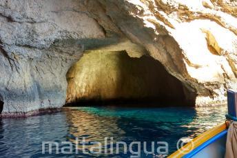 L'intérieur de la grotte à Blue Grotto