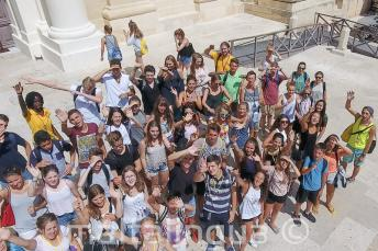 Groupe d'étudiants à Valletta