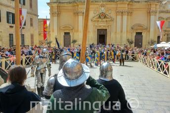 Représentation d'une bataille médiéval à Mdina