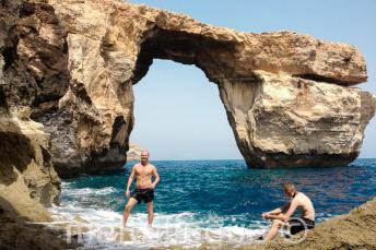 Excursion de notre école de langue à l'Azure Window
