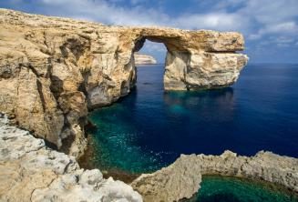 Vue de l'Azure Window à Gozo