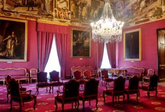 Une pièce du palais à Valletta