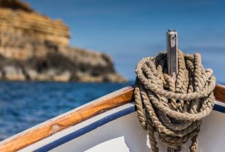 La proue d'un bateau traditionnel maltais.