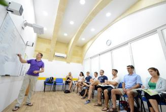 Air-conditioned classroom in a language school in Malta