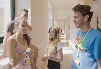 Étudiants parles pa notre école de langue pour jeunes