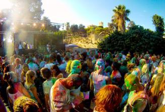 Soirée couleur Holi à Malte