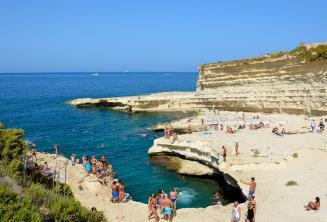 Vue de St Peters Pool, Malte